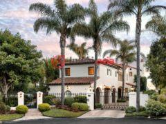 居外网在售美国圣巴巴拉6卧6卫的房产总占地544平方米USD 19,500,000