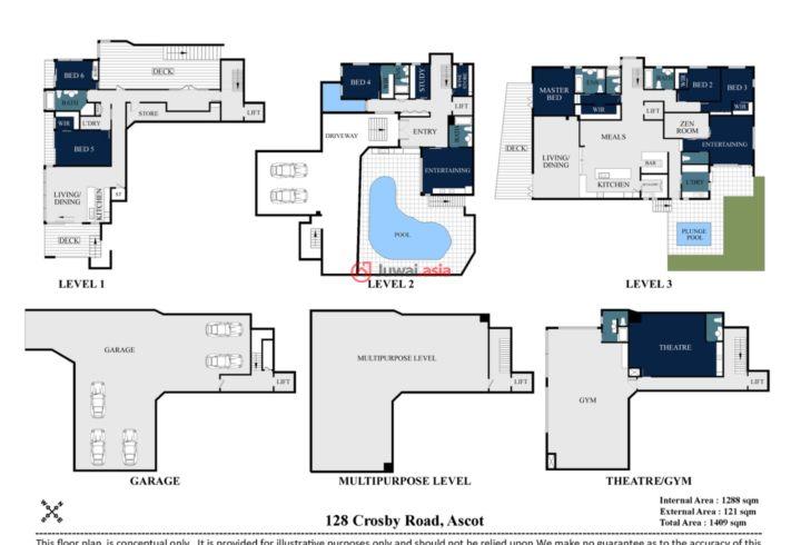 澳大利亚昆士兰Ascot的房产,128 Crosby Road,编号31787445